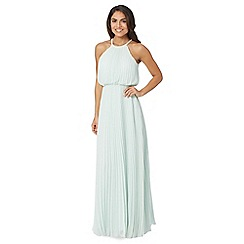Debut - Light green beaded pleat maxi dress