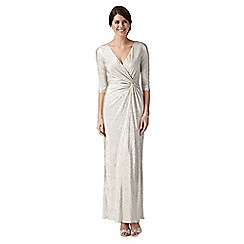 Debut - Silver shimmer maxi dress