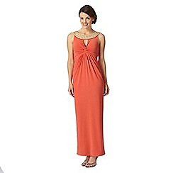 Debut - Coral embellished maxi dress