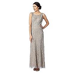Debut - Silver embellished cowl back dress
