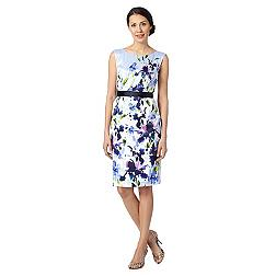 Lilac painted floral satin dress
