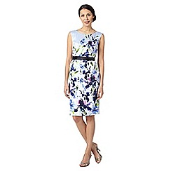 Debut - Lilac painted floral satin dress