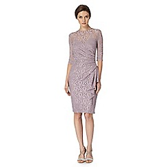 Debut - Light purple lace drape dress