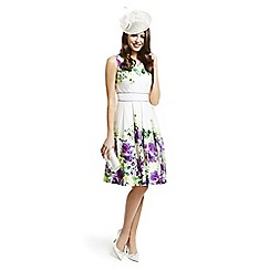 Debut - Ivory floral border prom dress