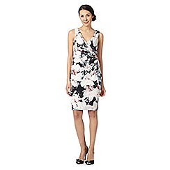 Debut - Black floral wrap front dress