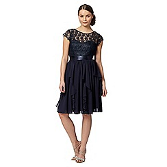Debut - Navy cord lace dress