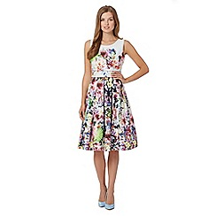 Debut - Debut Floral Print Prom dress