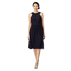 Debut - Navy beaded bodice dress