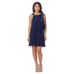 Debut - Navy pleated tiered dress