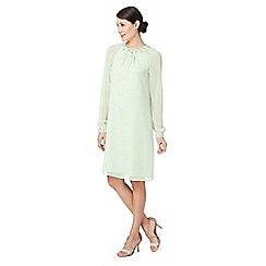 Debut - Light green embellished tunic dress