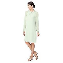 Debut - Light green embellished tunic dress