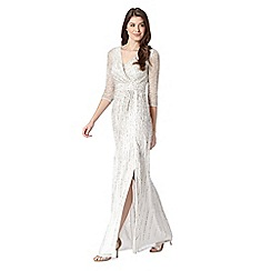 No. 1 Jenny Packham - Designer ivory sequin maxi evening  dress