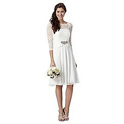 No. 1 Jenny Packham - Designer ivory lace three quarter dress
