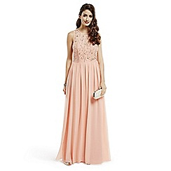 No. 1 Jenny Packham - Designer coral beaded maxi dress