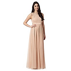 No. 1 Jenny Packham - Designer natural floral applique maxi dress