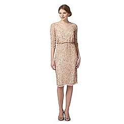 No. 1 Jenny Packham - Designer gold sequin embellished dress