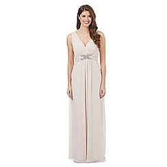 No. 1 Jenny Packham - Pale pink embellished maxi dress