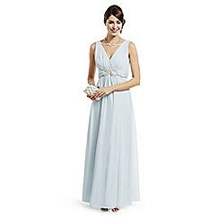 No. 1 Jenny Packham - Designer pale blue loop chiffon evening dress
