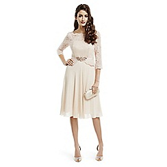 No. 1 Jenny Packham - Designer rose embellished lace bodice dress
