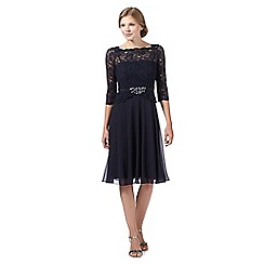 No. 1 Jenny Packham - Designer navy embellished lace bodice bridesmaid dress