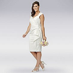 Debut - Ivory satin wrap wedding dress