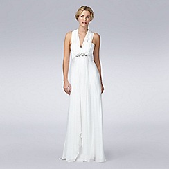 Debut - Ivory embellished Grecian wedding dress