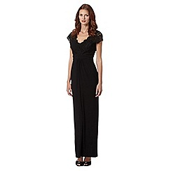 Pearce II Fionda - Black maxi lace jersey dress