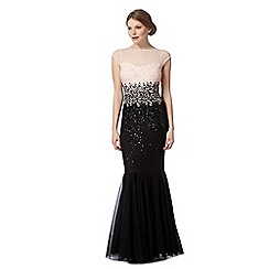 Pearce II Fionda - Designer black ombre sequin mermaid dress