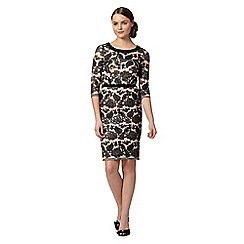 Pearce II Fionda - Designer black lace shift dress