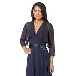 Debut - Navy chiffon waterfall cover up