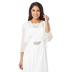 Debut - Ivory chiffon waterfall cover up
