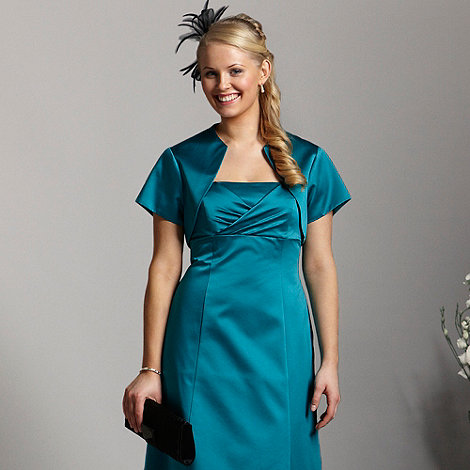 Debut - Turquoise satin cover up