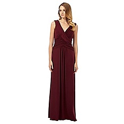 Debut - Dark red grecian maxi dress
