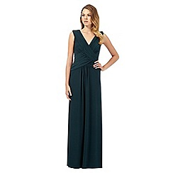 Debut - Dark green grecian maxi dress