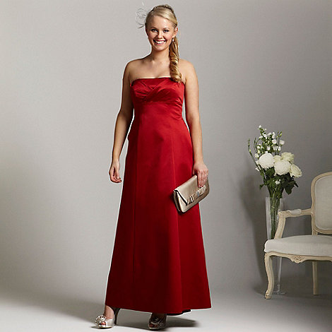Debut - Red bandeau ball gown - size 14