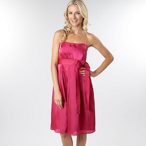 Debut - Bright pink organza prom dress