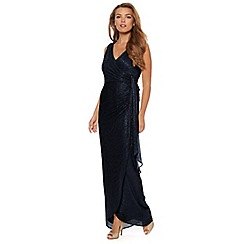 Debut - Martina Navy shimmer maxi evening dress