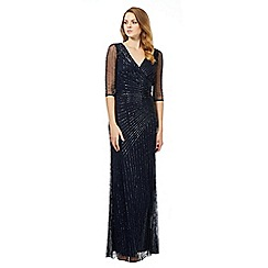 Debut - Navy embellished maxi dress