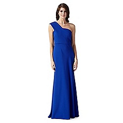Debut - Diane bright blue one shoulder evening dress