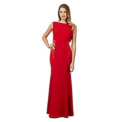 Debut - Kristan red cowl back maxi dress