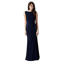 Debut - Kristan navy cowl back maxi evening dress