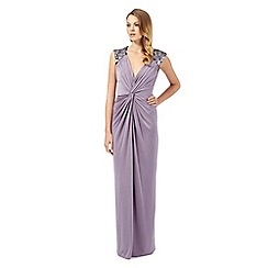 Debut - Adamina purple embellished twist maxi dress
