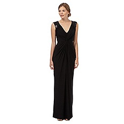 Debut - Black sequin embellished twist evening dress