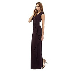 Debut - Dark purple wrap maxi dress