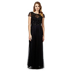 Debut - Black 'Operetta' embellished maxi dress