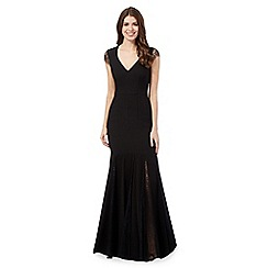 Debut - Black lace crepe maxi dress