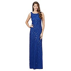 Debut - Bright blue sequin maxi dress