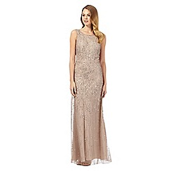 Debut - Bronze 'Eclipse' hand-embellished evening dress