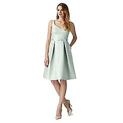 Debut - Rita Light green Metallic Thread Jacquard Prom
