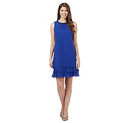Debut - Bright blue beaded layered dress